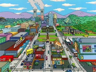 Pohľad na mesto Springfield